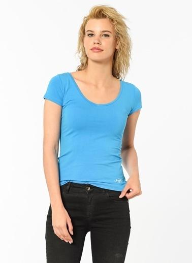Lee Cooper V Yaka Tişört Mavi